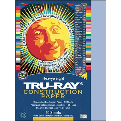 Tru-Ray® Construction Paper; Sky Blue, 12 X 18, 50 Sheets