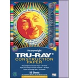 Tru-Ray® Construction Paper; Lilac, 12 X 18, 50 Sheets