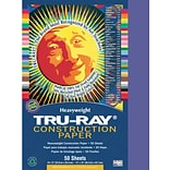 Tru-Ray® Construction Paper; Blue, 12 X 18, 50 Sheets