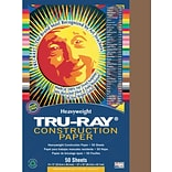 Tru-Ray® Construction Paper; Brown, 12 X 18, 50 Sheets