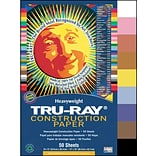 Tru-Ray® Construction Paper; Assorted Colors, 12 X 18, 50 Sheets