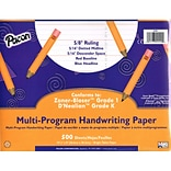 Pacon® Multi-Program Handwriting Paper; 5/8 Ruled, 10-1/2 X 8, 500 Sheets