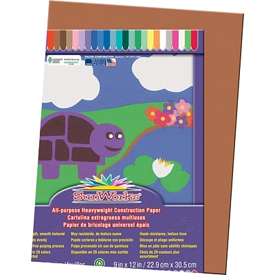 Pacon® Sunworks® Construction Paper; Brown, 9 X 12, 50 Sheets