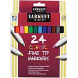 Sargent Art® Classic Markers; Fine Tip, 24/Pack