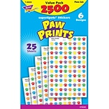 Trend® Paw Prints Superspots® Stickers Value Pack
