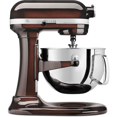 Professional 600 Series 6 Qt. Bowl Lift Stand Mixer With Pouring Shield Espresso