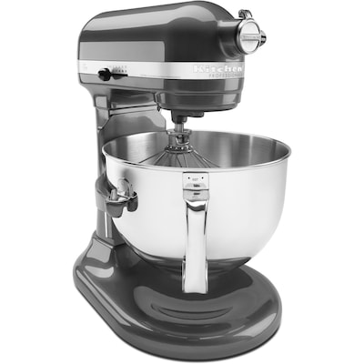Professional 600 Series 6 Qt. Bowl Lift Stand Mixer With Pouring Shield Pearl Metallic