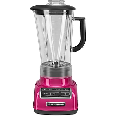 Diamond 5-Speed Blender with 60 Oz. One-Piece BPA-Free Diamond Shaped Pitcher - Raspberry Ice