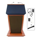 Amplivox® Lectern, Wireless Sound, Hardwood, Patriot Plus, Mahogany