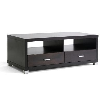 Baxton Studio Derwent Modern TV Stand With Drawers; Dark Brown