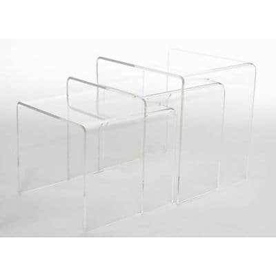 Baxton Studio Aville Acrylic Nesting Tables Display Stands, Clear