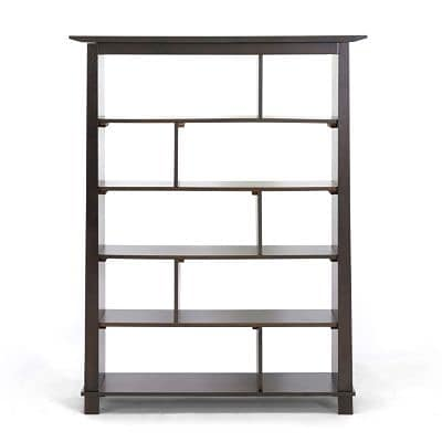 Baxton Studio Havana Tall Modern Bookcase; Dark Brown
