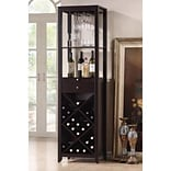 Baxton Studio Austin Wood Modern Wine Tower; Brown