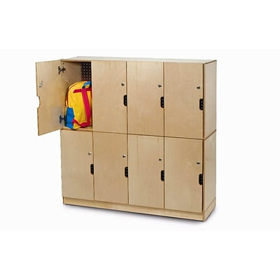 Whitney Brothers Backpack Storage With Locking Doors, Natural