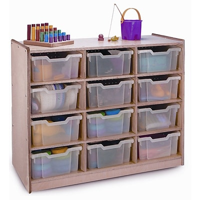Whitney Brothers 12 Tray Storage Cabinet, Natural