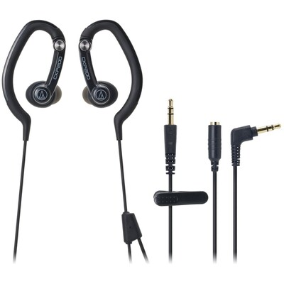 Audio Technica ATH CKP200BK Hook Style Over the Ear Headphone