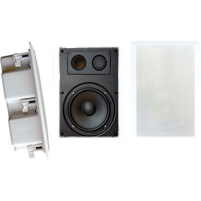 Pyleaudio® PDIW87 Two-Way In Wall Enclosed Speaker System With Directional Tweeter