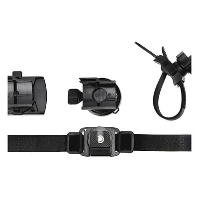 Midland XTAVP6 Accessory Value Pack 6; Goggle Mount; Vented Helmet Strap Mount