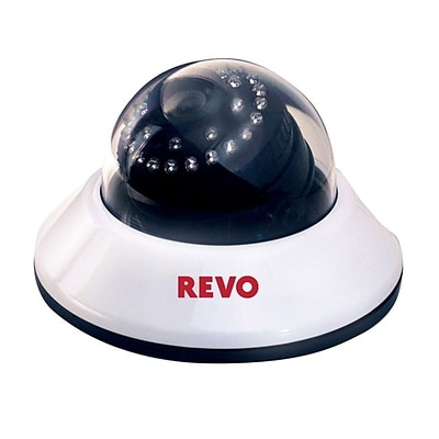REVO RCDS30-3 Wired Dome Camera with Day/Night Vision; White