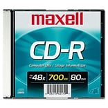 Maxell 700MB 48X CD-R; Slim Jewel Case, 1/Pack