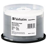 Verbatim® 97339 25GB Blu-ray Disc® BD-R Printable Disc; Spindle, 50/Pack