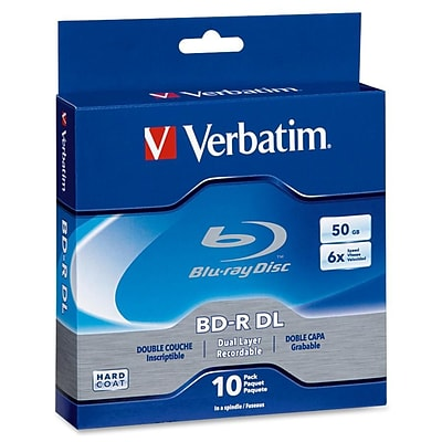 Verbatim® 97335 50GB Blu-ray Dual Layer Disc; Spindle, 10/Pack