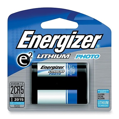 Energizer EL2CR5BP 6 VDC Lithium Digital Camera Battery; 1300 mAh