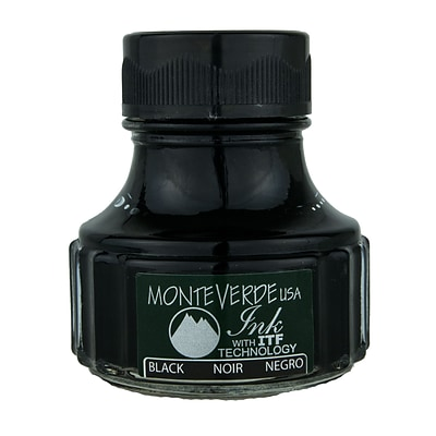 Monteverde Fountain Pen Ink Bottle Refills, 90ML, Black