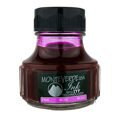 Monteverde Fountain Pen Ink Bottle Refills, 90ML, Pink
