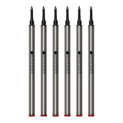 Monteverde® Medium Rollerball Refill For Waterman Rollerball Pens, 6/Pack, Red