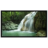 AccuScreens® 800018 92 Fixed Frame Projection Screen; 16:9, White Casing