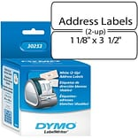 Dymo® 700CT White 2UP 1-1/8 X 3-1/2 Address Label Tape