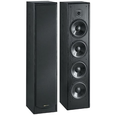 Bic Venturi DV64 200 W Two-Way Floor Standing Speaker; Black