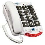 Clarity® JV-35B Amplified Standard Corded Telephone; 30 Names/Numbers