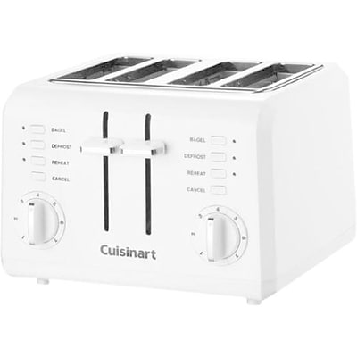 Cuisinart® 4-Slice Compact Plastic Toaster; White
