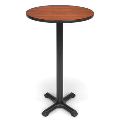 OFM X-Series 24 Round Cafe Height Table, Cherry