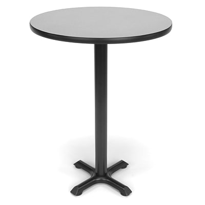 OFM X-Series 30 Round Cafe Height Table, Gray Nebula