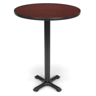 OFM X-Series 30 Round Cafe Height Table, Mahogany