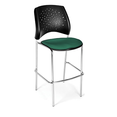 OFM Star Series Fabric Cafe Height Chair, Shamrock Green, 2/Pack