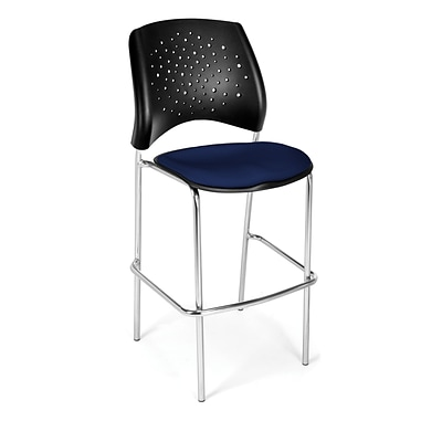 OFM Star Series Fabric Cafe Height Chair, Navy, 2/Pack