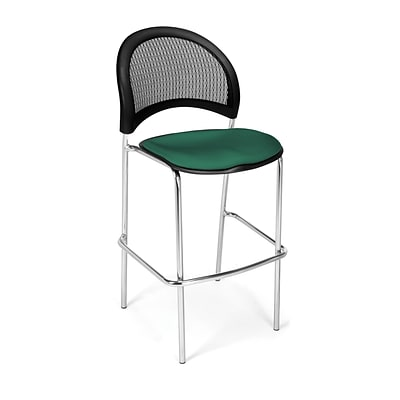 OFM Moon Series Fabric Cafe Height Chair, Shamrock Green, 2/Pack