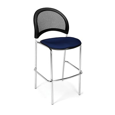 OFM Moon Series Fabric Cafe Height Chair, Navy, 2/Pack