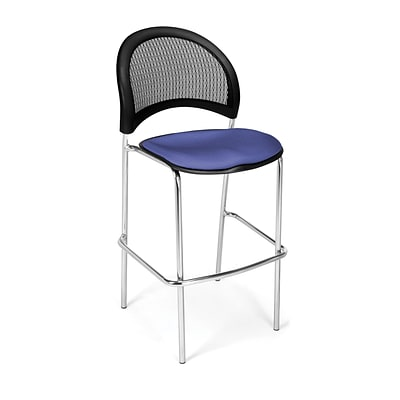 OFM Moon Series Fabric Cafe Height Chair, Colonial Blue, 2/Pack