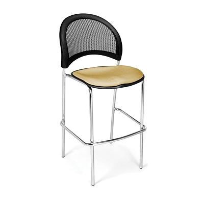 OFM Moon Series Fabric Cafe Height Chair, Golden Flax, 2/Pack