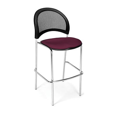 OFM Moon Series Fabric Cafe Height Chair, Burgundy, 2/Pack