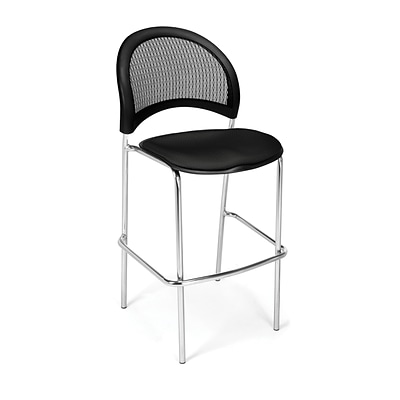 OFM Moon Series Fabric Cafe Height Chair, Black, 2/Pack