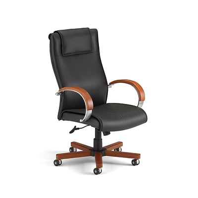 OFM Apex Series Wood High Back Executive Chair, Cherry
