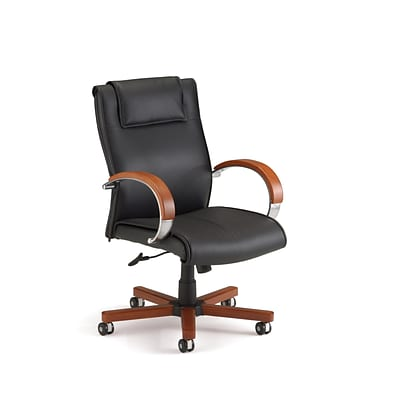 OFM Apex Series Wood Mid Back Executive Chair, Cherry