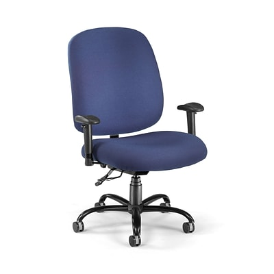 OFM Fabric Big And Tall Task Chair, Navy (700-AA6-237)