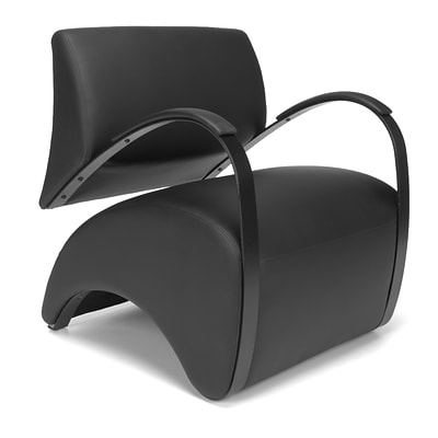 OFM Anti-Microbial Vinyl Lounge Chair, Black